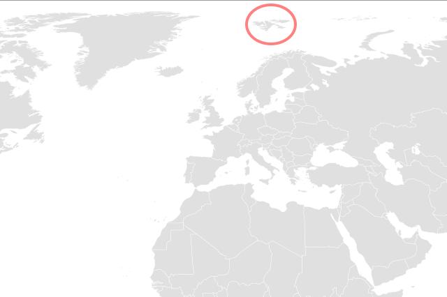 スヴァールバル諸島はどこ?